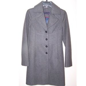 Tommy Hilfiger Wool Trench Coat XS Petite Lined